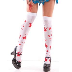 Zombie Blood Stained Spatter Stockings